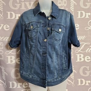 Cropped Denim Jacket Torrid Womens Sz 0